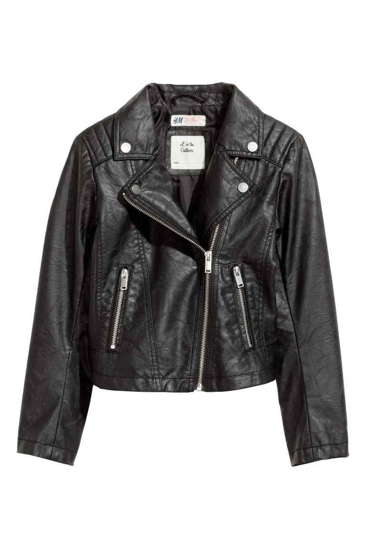 Biker jacket - Black - Kids | H&M GB