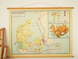 Vintage landkaart Denemarken