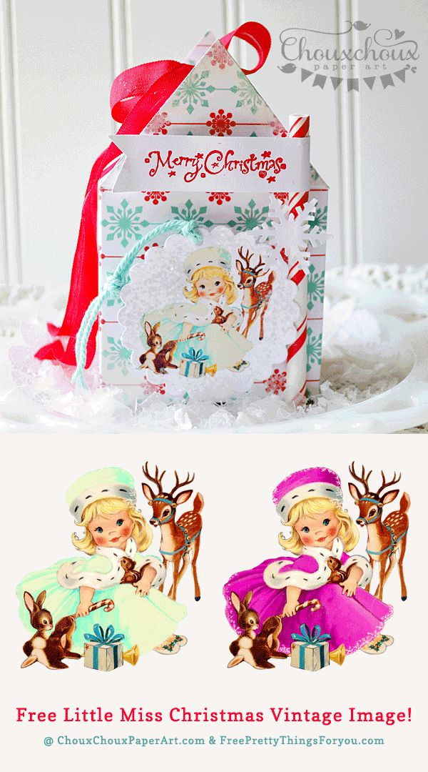 Free Christmas Clip Art: Little Miss Christmas and Friends!TV