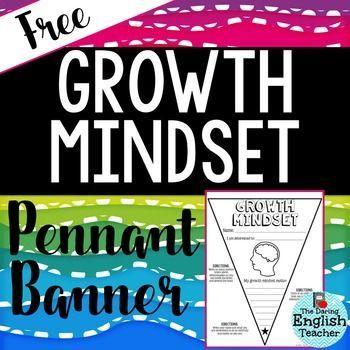 Growth Mindset Pennant Banner - FREE - Teachers - Classroom Decor