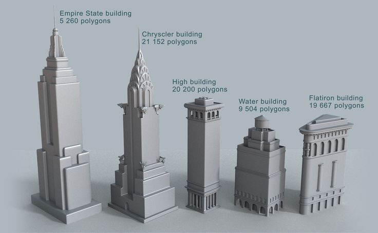 New York cartoon building collection - 3D Models | 3DOcean