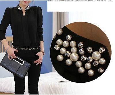 bordado de blusas con perlas y tachas - Buscar con Google