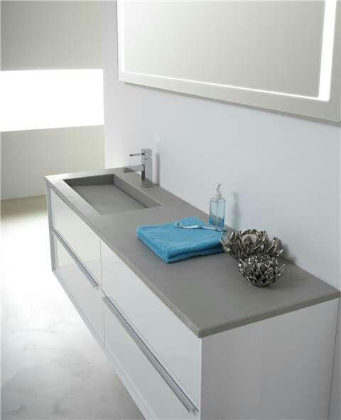 grijs / wit badkamermeubel