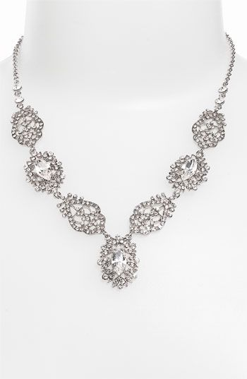 Nina 'Celine' Pavé Crystal Y-Necklace available at #Nordstrom #Nordstromweddings