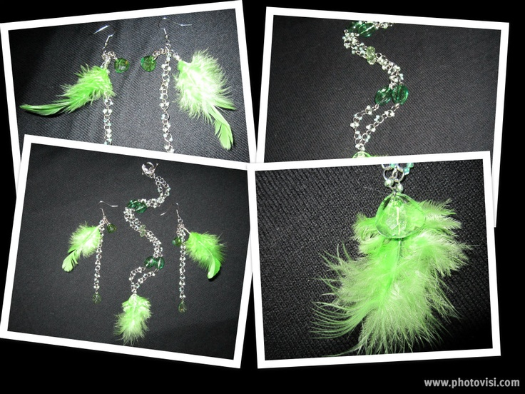 Crazy for green!! ... To purchase check out my facebook page: http://www.facebook.com/twocutechicks?ref=hl