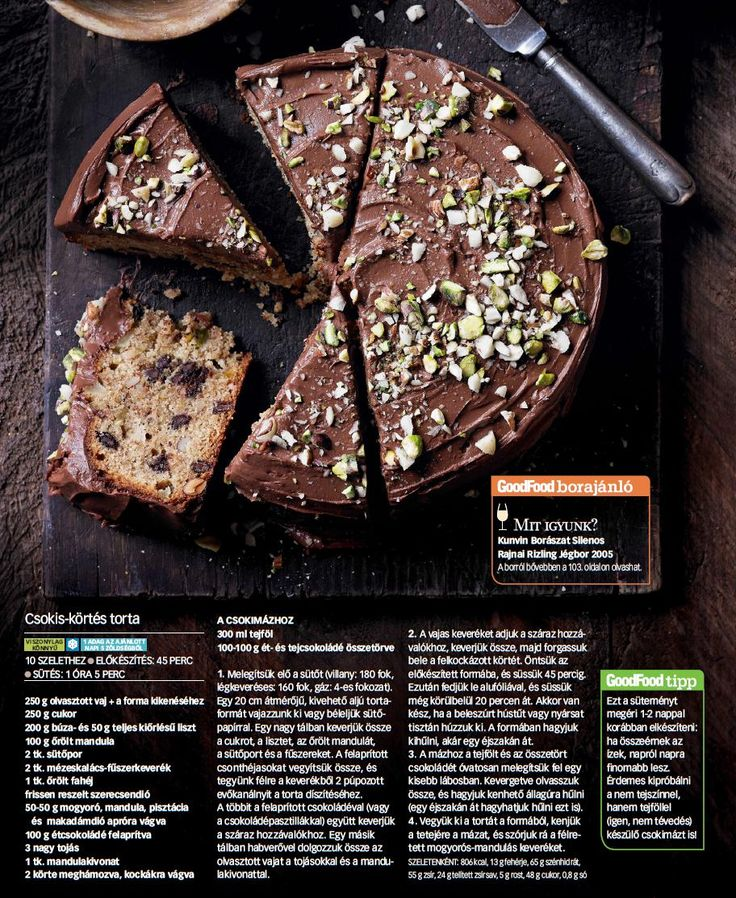 Csokis-körtés torta