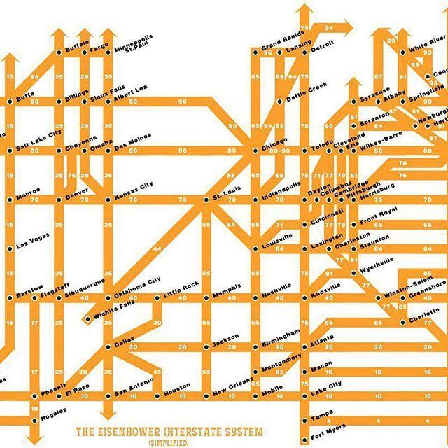The Best Interstate Highway Map Ideas On Pinterest Road - Original map of us interstae system 1955