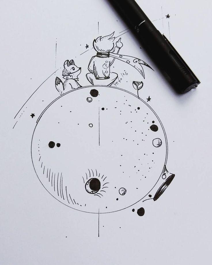 """534 Likes, 32 Comments - Kefo_Nascimento (@ateliekefonascimento) on Instagram: """"Arte do pequeno príncipe desenvolvida para tatuagem da cliente @camilajustinomakeup. Arte…"""""""