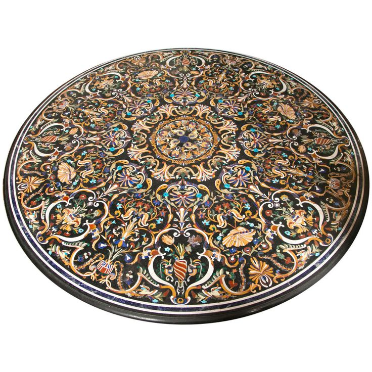 Incredible Pietra Dura Table Top | From a unique collection of antique and modern coffee and cocktail tables at http://www.1stdibs.com/furniture/tables/coffee-tables-cocktail-tables/