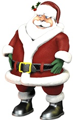 Official NORAD Santa Tracker.  Track Santa's sleigh as he begins delivering gifts Christmas Eve.  There is also an app for your smart phone called NORAD Santa.  My kids love checking up on Santa!