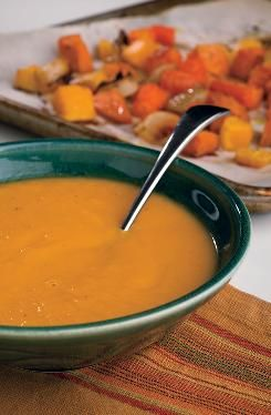 The recipe from the American Cancer Society addresses the common cancer treatment symptom sore mouth. However, it's also a soothing and healthy meal for anyone at 100 calories. Includes: carrots, butternut squash, sweet potatoes, olive oil, chicken broth and more!