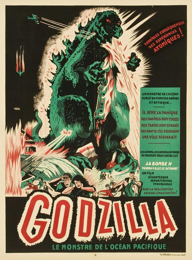 GODZILLA : Vintage French Movie Posters - 50 Watts