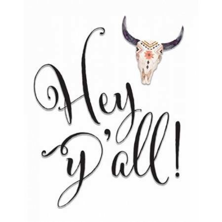 Hey Yall Bullhead Canvas Art - Tara Moss (22 x 28)