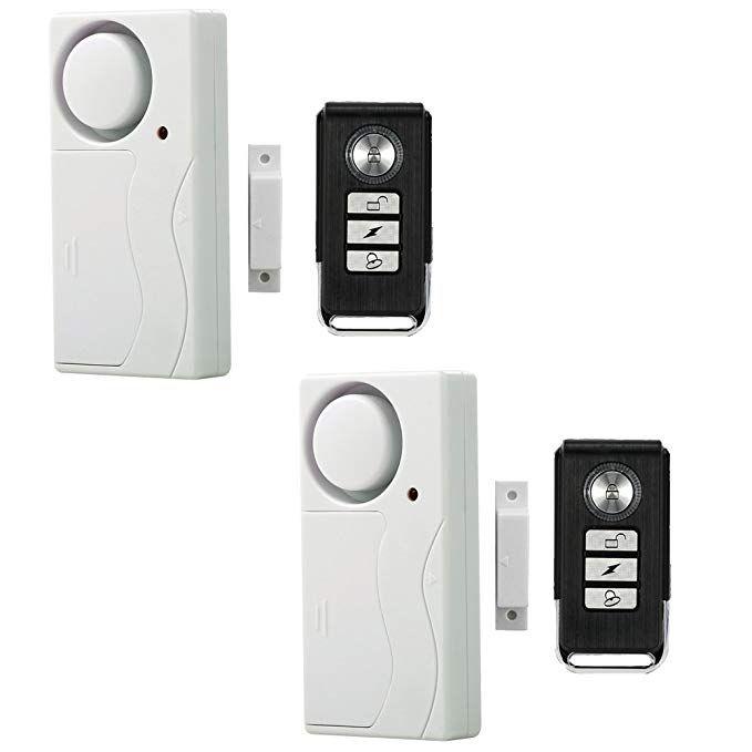 Wireless Remote Window Door Alarm Security Alarms Magnetic Sensor Pool Alarms For Doors Entry Chime Pack Of 2 Review Door Alarms Security Alarm Pool Alarms