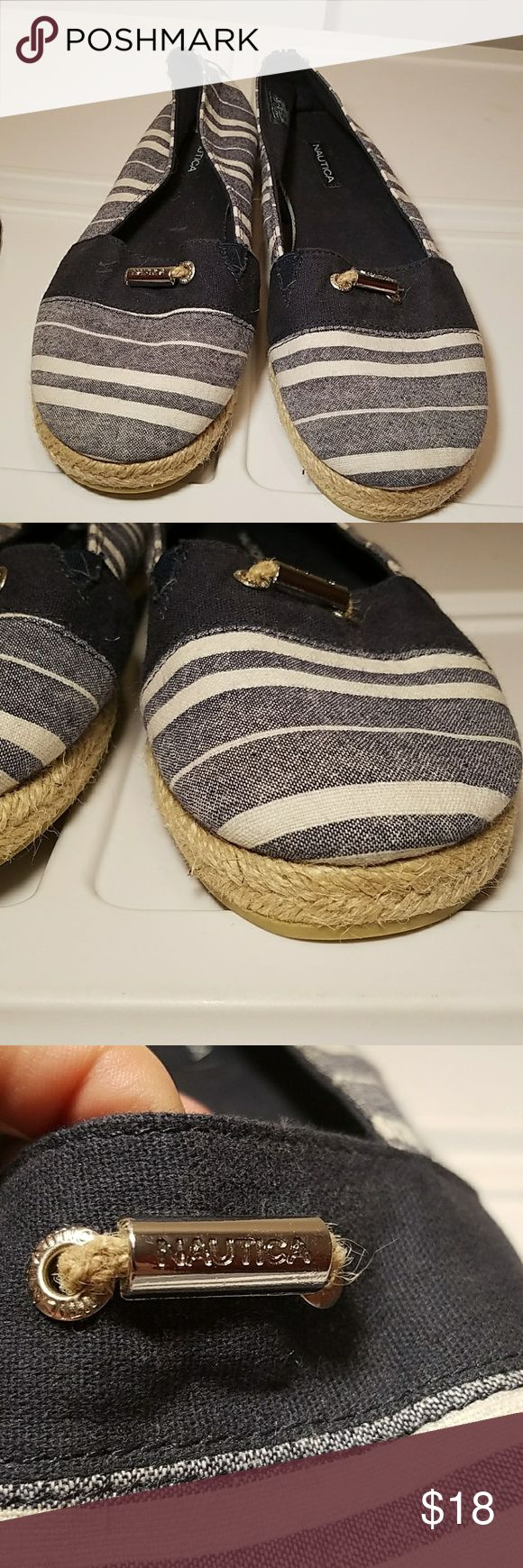 Nwot Brand new nautica ballet flats Brand new never worn, bought a half size too big and didnt notice, perfect condition, very nautical, rope bottom embellishment Nautica Shoes Flats & Loafers