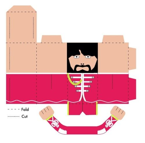 Free Printable Beatles - George Harrison