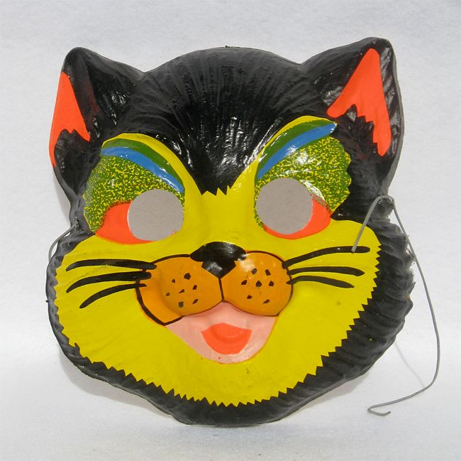 Church of Halloween On Ruby Lane Has Great Vintage  Masks For Sale