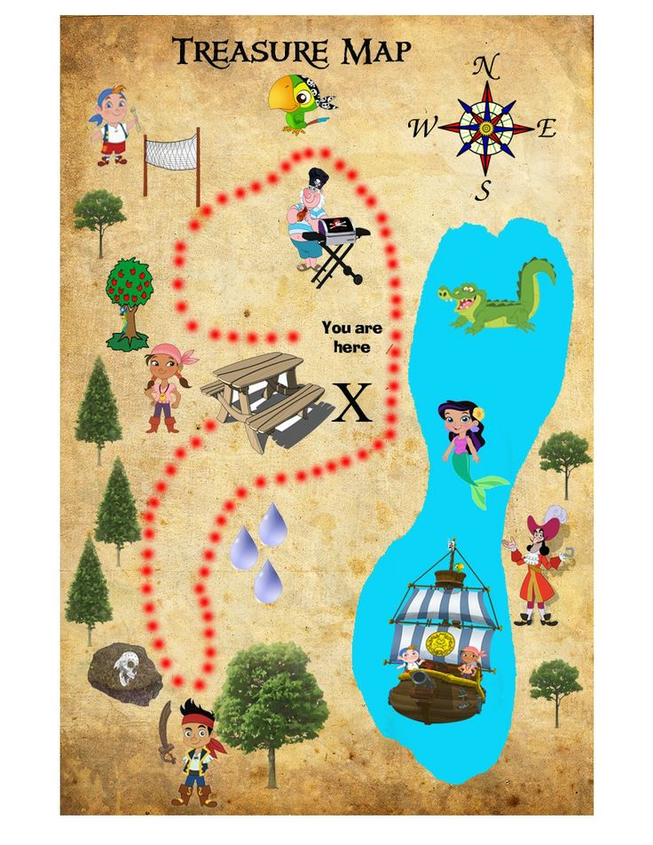 Jake And The Neverland Pirates Cubbys Map Treasure Map | ...