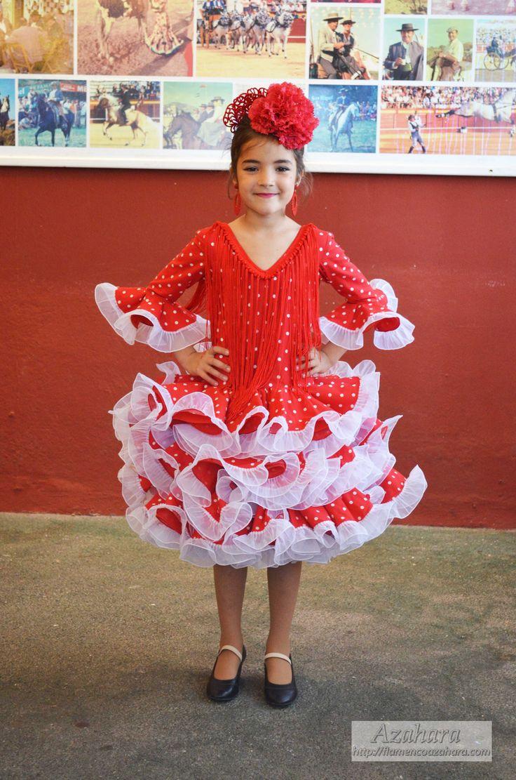 #trajesdeflamenca #trajesdegitana #niña #marisol #lunares #rojo #flamencagomez