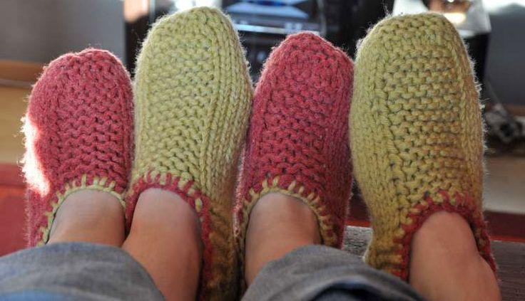comment tricoter des chaussons pour femme