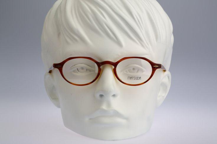 Vintage oval eyeglasses, Matsuda 10303 CA/BR – 90s unisex optical frame / NOS – Vintage eyeglasses frames