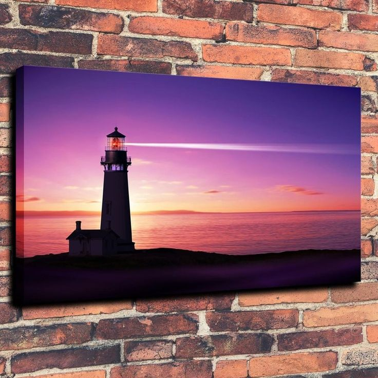Scenery Lighthouses Sea Print Oil Painting on Canvas Home Decor (Unframed) in Art, Art from Dealers & Resellers, Prints | eBay