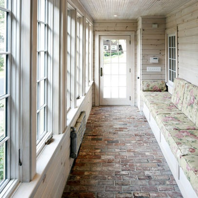 The o 39 jays decor and pine on pinterest for Enclosed breezeway plans