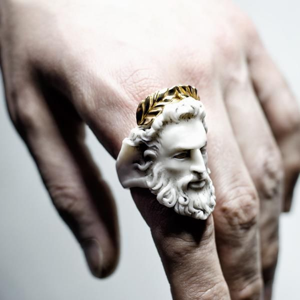 ZEUS RING by Macabre Gadgets | MARBLE & GOLD  Macabre Gadgets Online Boutique: store-macabregadgets.com