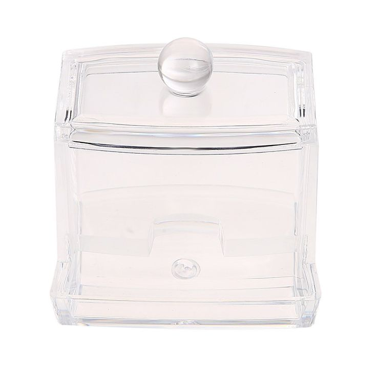 Easydeal Transparent Acrylic Hotel Supplies Crystal Clear Swab Box Cotton Box