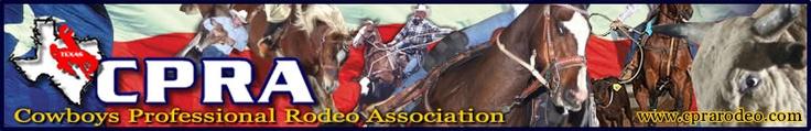 CPRA Header, Cowboys Professional Rodeo Association