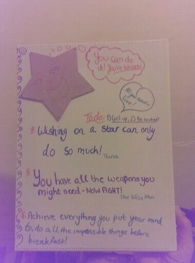 Day 2: An art canvas with inspirational sayings and bright colours to help cheer me up on a bad day