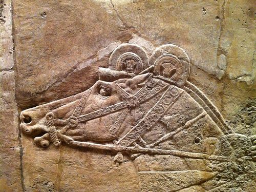 Detail from an Assyrian relief at the British Museum. Photo by Iain R on Flickr