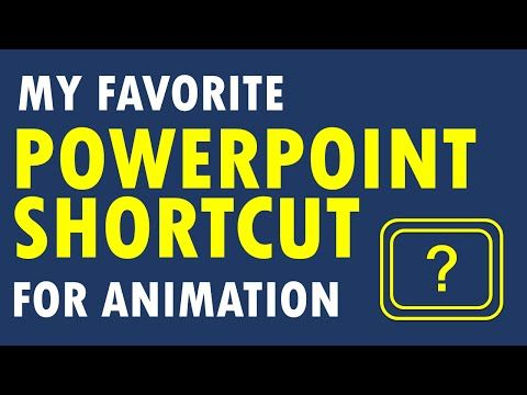 My Favorite PowerPoint Shortcut for Animation (Hint: it's a shortcut for a shortcut) - YouTube