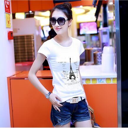 2016 plus size women t shirt High quality loose tops short sleeve Women short-sleeve female T-shirt print tees women t shirts
