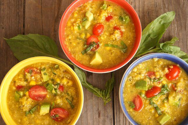 Summer Corn Chowder   #vegan #vegan recipe