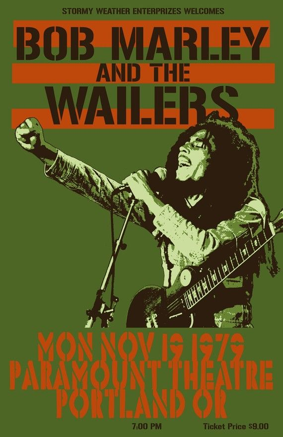 Bob Marley 1979 Tour Poster by Tomasek on Etsy, $25.00 :: I would love this for our home::