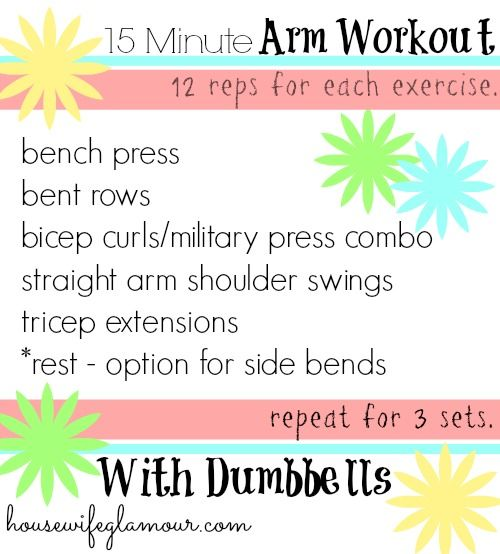 15 Minute Arm Workout with Dumbbells. (+ a video demonstration of exercises!)