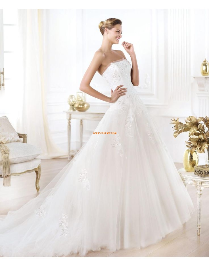 Garden/Outdoor A-line Zipper Wedding Dresses 2014