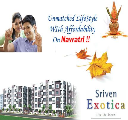 Make true your dream of living luxury life in Bangalore with Sriven Exotica. Offering 2 BHK apartments spread over  886 -991 sqft at exclusive affordable rates.