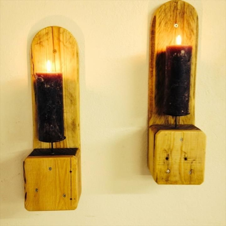 Wall Mounted Candle Lights : 17 Best ideas about Pallet Wall Hangings on Pinterest Pallet wood walls, Rustic wood wall ...