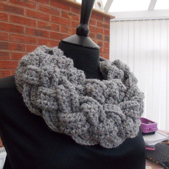 Braided scarf Chunky double braided scarf by MaureensCrochetLove
