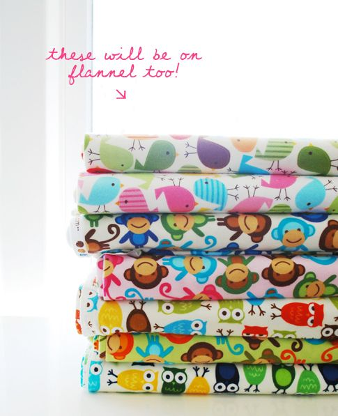 urban zoologie flannel / ann kelle  Can't wait to see these - great for rag quilts.