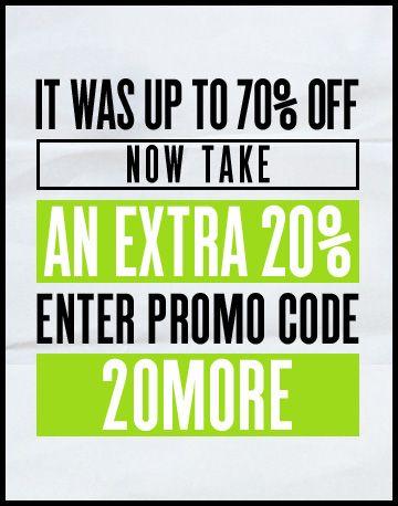 ASOS PROMO GRAPHIC. Get an extra 20% off sale. Enter promo code 20MORE.
