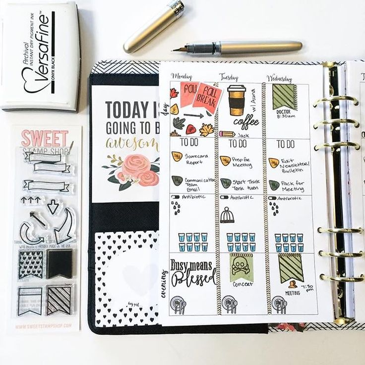 Planner page by designer Tiffany O'Grady using the Sweet Stamp Shop Tags stamp set