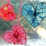 Yarn Hearts! Easy and super cute!