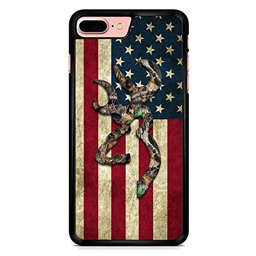 Browning Deer Camo American Flag iPhone 7 Plus Case Black