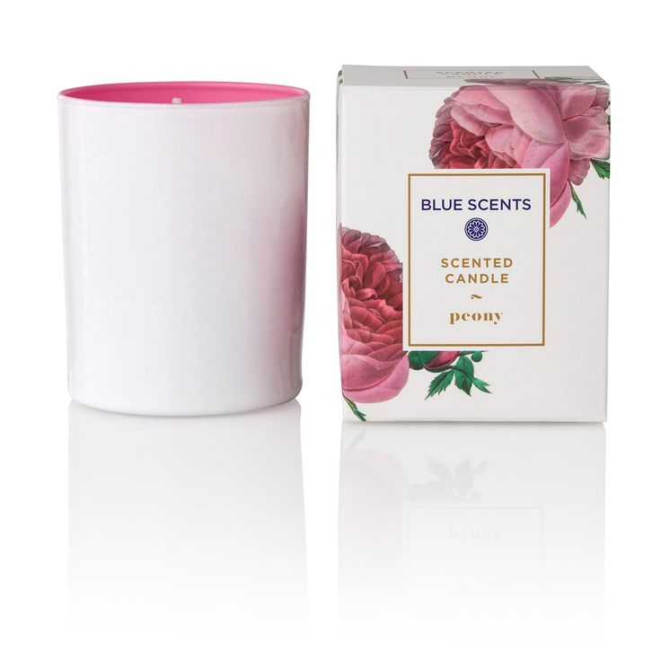 "Green Blu - ""BLUE SCENTS"" Peony Scented Candle 135gr"