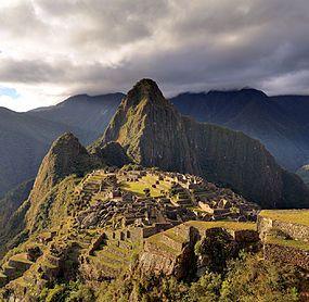 80 - Machu Picchu - Juin 2009 - edit.2.jpg   Machu Picchu a 15th-century Inca site located 2,430 metres (7,970 ft) above sea level. it is perhaps the most familiar icon of Inca civilization