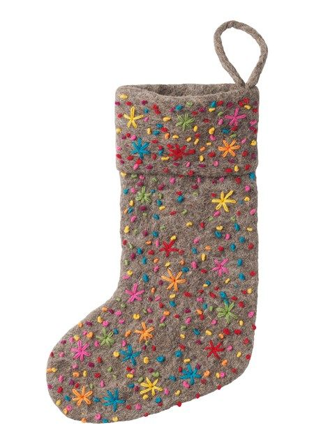 9 best inspiration tree decorations images on pinterest for Felt stocking decorations