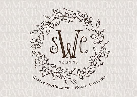 Classic Custom Wedding Monogram by Merrymint Designs | Hatch.co